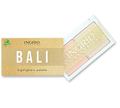 Parfémy, Parfumerie, kosmetika Paleta rozjasňovačů na obličej - Ingrid Cosmetics Bali Highlighters Palette