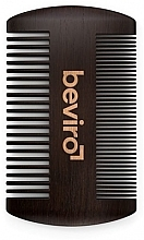 Parfémy, Parfumerie, kosmetika Kartáč na vousy - Beviro Pear Wood Beard Comb