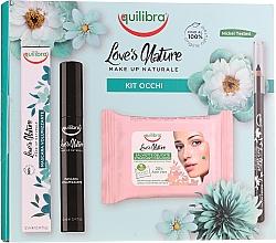 Parfémy, Parfumerie, kosmetika Sada  - Equilibra Love's Nature (eyeliner/1.1g + mascara/12ml + wipes/10pc)