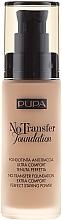 Parfémy, Parfumerie, kosmetika Make-up - Pupa No Transfer Foundation