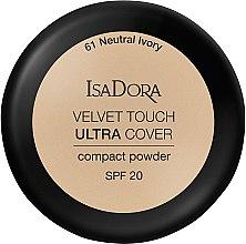 Parfémy, Parfumerie, kosmetika Pudr na obličej - IsaDora Velvet Touch Ultra Cover Compact Powder SPF 20 (61 -Neutral Ivory)