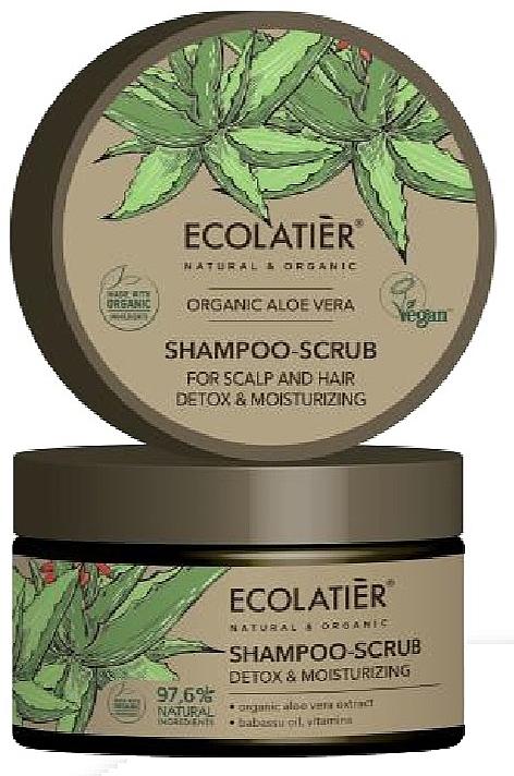 Vlasový peeling Čištění a detox - Ecolatier Organic Aloe Vera Shampoo-Scrub