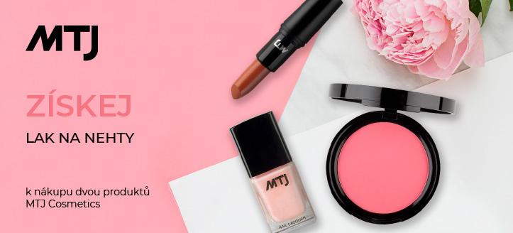 K nákupu dvou produktů MTJ Cosmetics, získej lak na nehty jako dárek