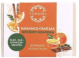 Parfémy, Parfumerie, kosmetika Mýdlo Pomeranč a skořice - Yamuna Orange-Cinnamon Vegetable Soap