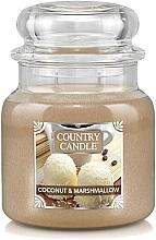Parfémy, Parfumerie, kosmetika Vonná svíčka ve skle - Country Candle Coconut & Marshmallow