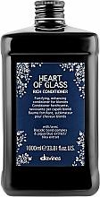 Parfémy, Parfumerie, kosmetika Vyživující kondicionér Color Support na blond vlasy - Davines Heart Of Glass Rich Conditioner