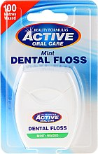 Parfémy, Parfumerie, kosmetika Mátově ochucená zubní nit - Beauty Formulas Active Oral Care Dental Floss Mint Waxed 100m