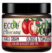 Parfémy, Parfumerie, kosmetika Pleťový krém Rajče a olivy - Eco U Face Cream