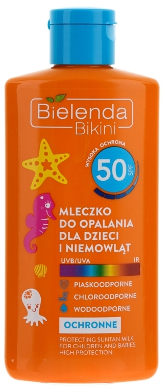 Ochranné mléko pro děti SPF50 - Bielenda Bikini Protecting Suntan Milk For Children — foto N1