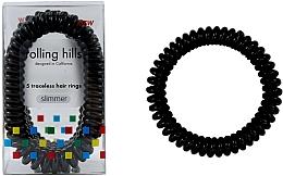 Parfémy, Parfumerie, kosmetika Gumička-náramek do vlasů, černá - Rolling Hills 5 Traceless Hair Rings Slimmer Black