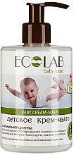 Parfémy, Parfumerie, kosmetika Dětské krémové mýdlo - ECO Laboratorie Baby Cream-Soap
