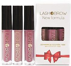 Parfémy, Parfumerie, kosmetika Sada - Lash Brow Mini Lip Gloss Set Nude (lip/gloss/3x3ml)