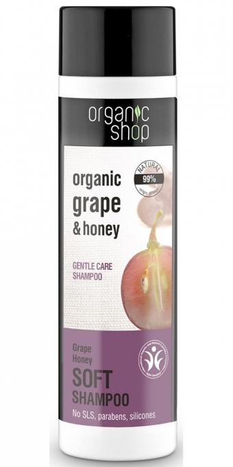 """Šampon na vlasy """"Měkká péče.Hroznový med"""" - Organic Shop Organic Grape and Honey Soft Shampoo — foto N1"""