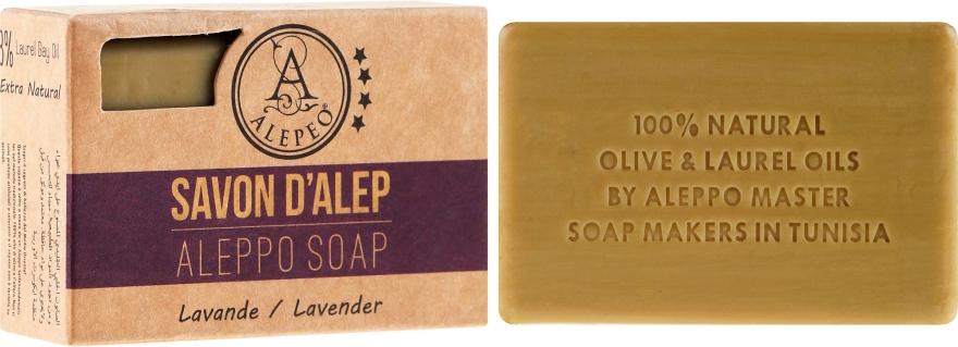 Alepské mýdlo s levandulí - Alepeo Aleppo Soap Lavender 8% — foto N1