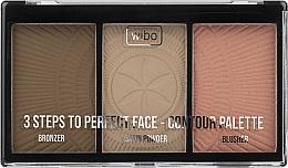 Parfémy, Parfumerie, kosmetika Paleta na konturování - Wibo 3 Steps To Perfect Face Contour Palette New Edition