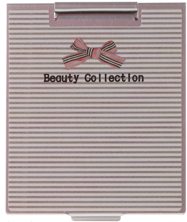 Zrcátko v kovovém pouzdře 85567, pruhované - Top Choice Beauty Collection Mirror — foto N1