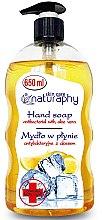 Parfémy, Parfumerie, kosmetika Antibakteriální mýdlo Citron s extraktem z aloe vera - Bluxcosmetics Naturaphy Hand Soap