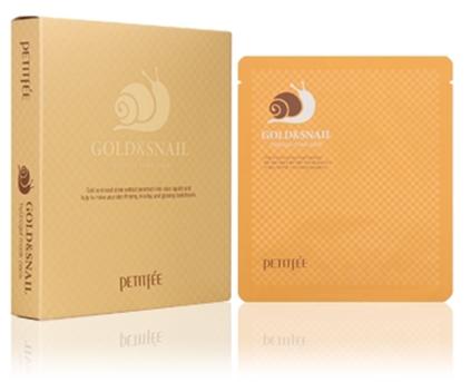Hydrogelová obličejová maska se zlatem a šnekem - Petitfee & Koelf Gold & Snail Hydrogel Mask Pack