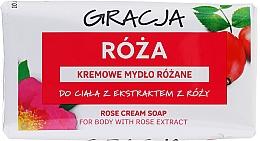 Parfémy, Parfumerie, kosmetika Toaletní mýdlo s výtažkem z růží - Gracja Rose Cream Soap With Rose Extract
