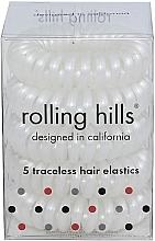 Parfémy, Parfumerie, kosmetika Gumička-náramek do vlasů, bílá - Rolling Hills 5 Traceless Hair Rings White