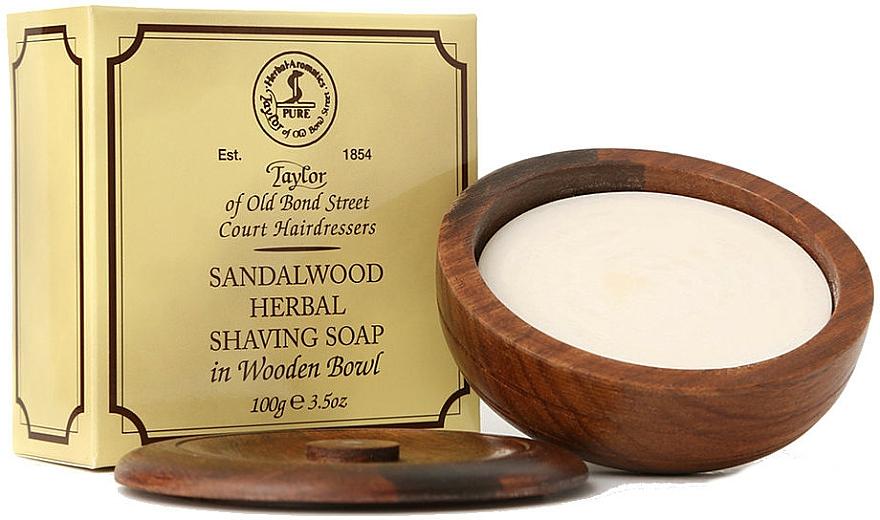 Mýdlo na holení Santalové dřevo - Taylor Of Old Bond Street Sandalwood Herbal Shaving Soap — foto N1