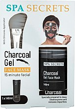 Parfémy, Parfumerie, kosmetika Sada - Spa Secrets Charcoal Gel Face Mask (mask/140ml + brush/mask/1pcs)