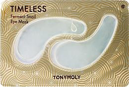 Parfémy, Parfumerie, kosmetika Hydrogelové náplasti pod oči s hlemýždím mucinem - Tony Moly Timeless Ferment Snail Eye Mask