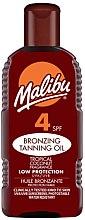 Parfémy, Parfumerie, kosmetika Opalovací krém - Malibu Bronzing Tanning Oil SPF4