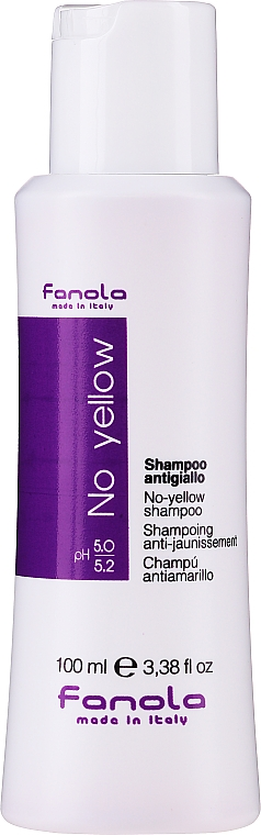 Šampon na šedivé, odbarvené, melírované a zesvětlené vlasy, který zbavuje žlutavých nádechů - Fanola No-Yellow Shampoo
