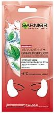Parfémy, Parfumerie, kosmetika Látkové náplasti na pleť kolem očí Zvlhčení + Záře mladí - Garnier Skin Naturals Patches