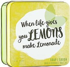 Parfémy, Parfumerie, kosmetika Tělové mýdlo v metalické nádobě Citron - Scottish Fine Fruits Lemons Soap