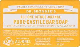 Parfémy, Parfumerie, kosmetika Mýdlo Citrus a pomeranč - Dr. Bronner's Pure Castile Bar Soap Citrus & Orange