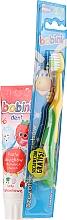 Parfémy, Parfumerie, kosmetika Sada s žluto-zeleným zubním kartáčkem - Bobini 1-6 (toothbrush + toothpaste/75ml)