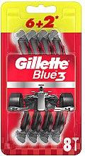 Parfémy, Parfumerie, kosmetika Sada jednorázových holicích strojků, 6+2ks - Gillette Blue3 Nitro