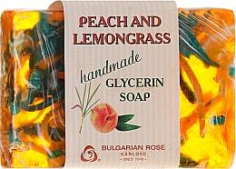 """Parfémy, Parfumerie, kosmetika Glycerinové mýdlo """"Broskev a lemongrass"""" - Bulgarian Rose Peach & Lemongrass Soap"""