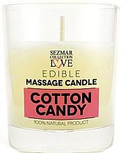 Parfémy, Parfumerie, kosmetika Přírodní masážní svíčka Cukrová vata - Sezmar Collection Cotton Candy