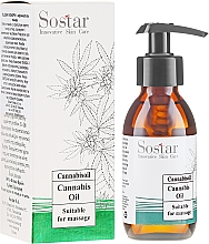 Parfémy, Parfumerie, kosmetika Masážní olej s extraktem konopí - Sostar Cannabidiol Oil Cannabis Extract