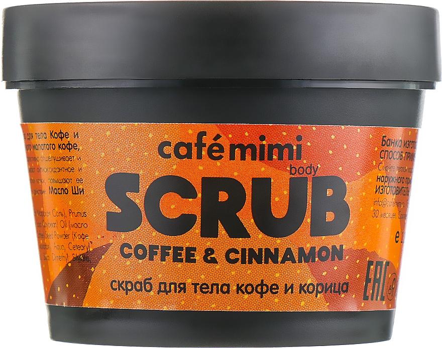 Tělový peeling Káva a skořice - Cafe Mimi Body Scrub Coffee & Cinnamon