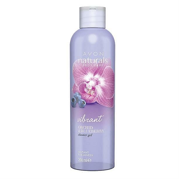"Sprchový gel ""Borůvka a orchidej"" - Avon Naturals Shower Gel — foto N1"