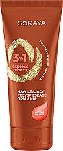 Parfémy, Parfumerie, kosmetika Hydratační prostředek na opalování s máslem vlašského ořechu - Soraya 3w1 Express Bronze Walnut Tan Activator