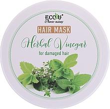 Parfémy, Parfumerie, kosmetika Maska pro poškozené vlasy - Eco U Hair Mask Herbal Vinegar For Damaged Hair