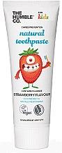 """Parfémy, Parfumerie, kosmetika Přírodní zubní pasta """"dětská s příchutí jahod"""" - The Humble Co. Natural Toothpaste Kids Strawberry Flavor"""