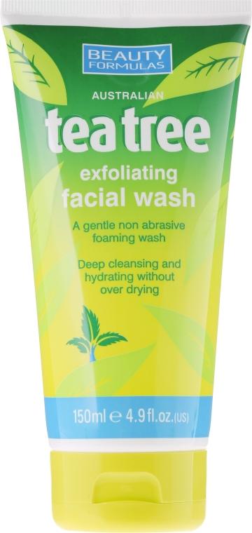 "Čisticí gel ""Čajový strom"" - Beauty Formulas Tea Tree Exfoliating Facial Wash"