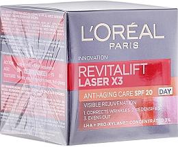 Parfémy, Parfumerie, kosmetika Denní krém na obličej - L'Oreal Paris Revitalift Laser X3 Anti-Age SPF 20
