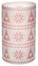 Parfémy, Parfumerie, kosmetika Svícen na svíčku - Yankee Candle Red Nordic Frosted Glass Jar Sleeve