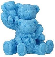 "Parfémy, Parfumerie, kosmetika Přírodní mýdlo ""Family three teddy bears"", modré - LaQ Happy Soaps"