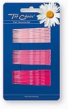 Parfémy, Parfumerie, kosmetika Sponky do vlasů, růžové, 30 ks - Top Choice
