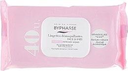 Parfémy, Parfumerie, kosmetika Ubrousky na obličej, 40 ks - Byphasse Make-up Remover Wipes Milk Proteins All Skin Types