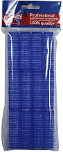 Parfémy, Parfumerie, kosmetika Natáčky na suchý zip 16/63, modré - Ronney Professional Velcro Roller