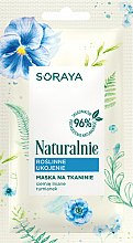 Parfémy, Parfumerie, kosmetika Rostlinná reliéfní látková maska - Soraya Naturalnie Face Mask